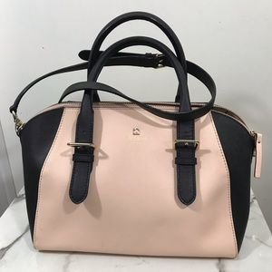 Kate Spade dome style bag large size pink/ black